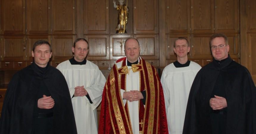 Vestizione e inizio di Noviziato in Germania (VULN) per Steffen Polite e Martin Hartmann.