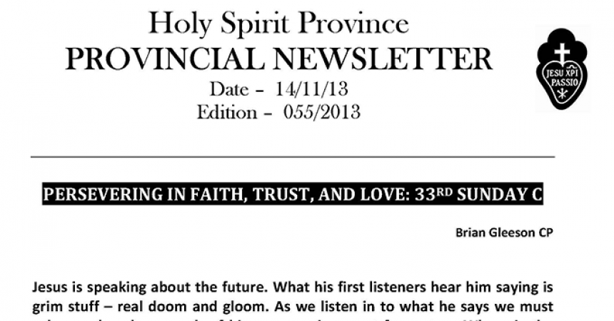 New Edition of Holy Spirit Province Newsletter