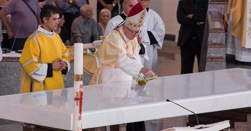 Cardinal Antonelli consecrates the new Shrine of St. Gabriel