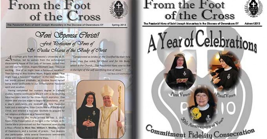 """New Editions of """"From the Foot of the Cross Newsletter"""""""