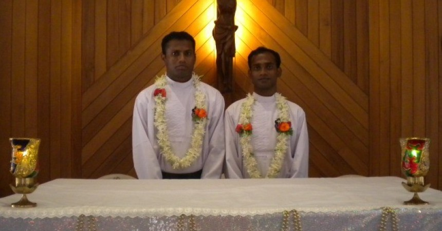 Religious professions and diaconate ordinations in India