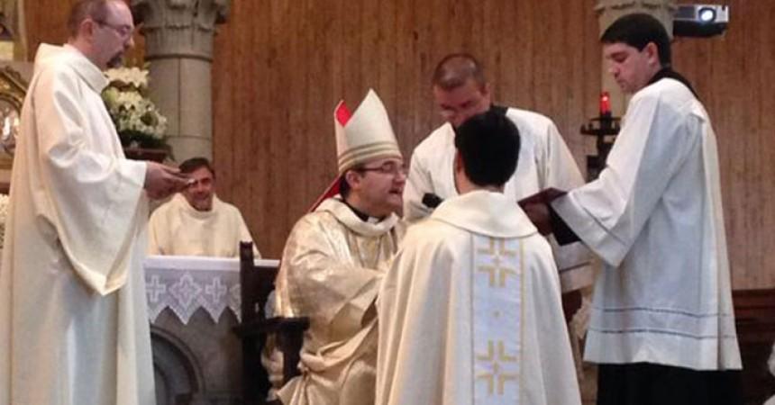 Fr. David Arranz Bermejo, C.P. is ordained priest in Urretxu, Gipuzkoa, Spain.