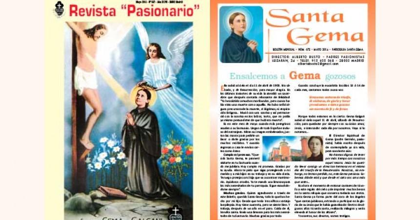 """""""Pasionario"""" and """"Santa Gema"""" Magazines"""