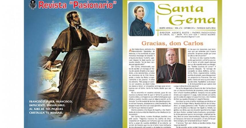 """Pasionario"" e ""Santa Gema"" Magazines"