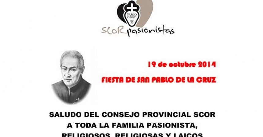 Greetings from the Provincial Council of SCOR to all the Passionist Family,  Religious and Laity