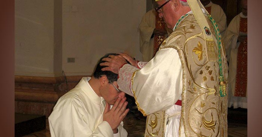 Fr. Marco Staffolani, C.P. is ordained to the Order of Priesthood