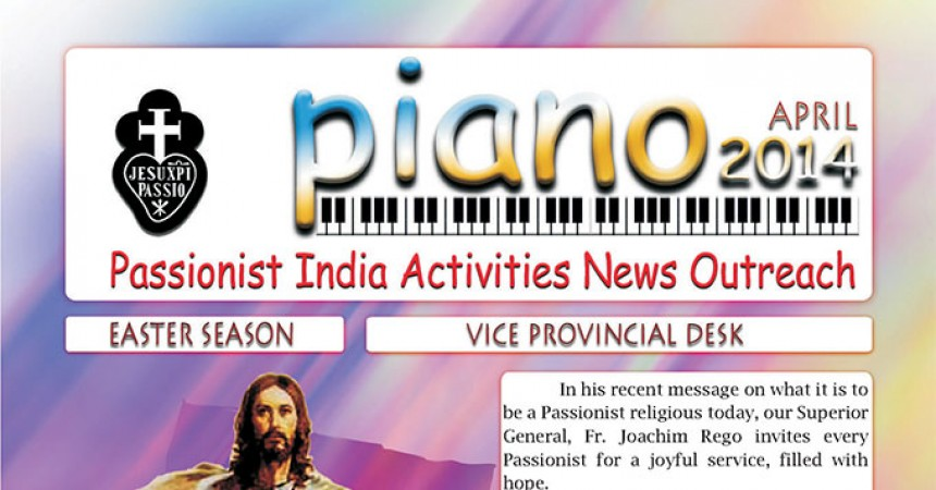 "New Edition of the Newsletter of the Vice Province of St. Thomas (THOM), ""PIANO"""