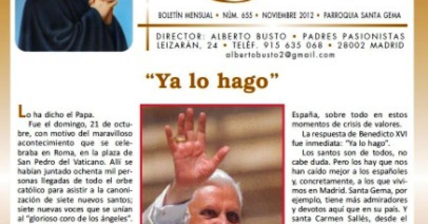 """""""Pasionario"""" and """"Santa Gema"""""""