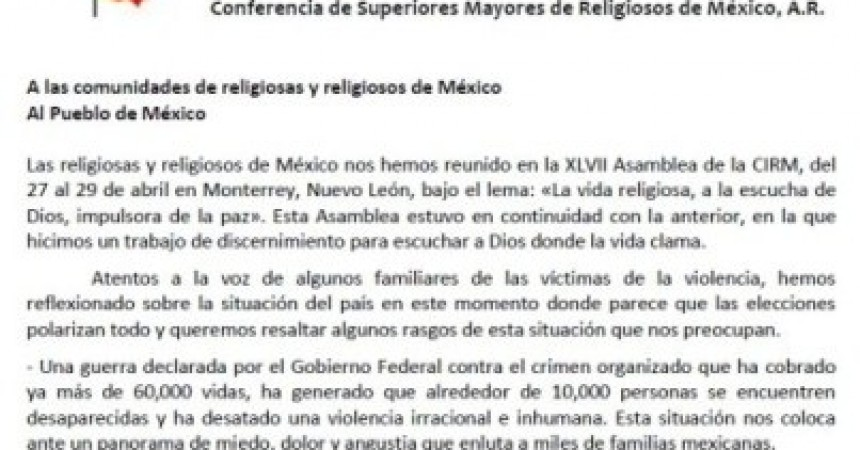 Conference of Major Superiors of Religious in Mexico