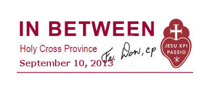 In Between – News from Don Webber, Provincial of Holy Cross (CRUC) – USA