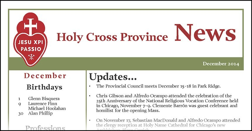 "New Edition of ""Holy Cross News"""
