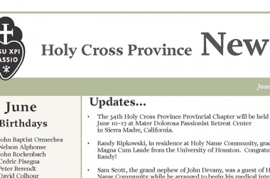"""New Edition of """"Holy Cross Province Newsletter"""""""