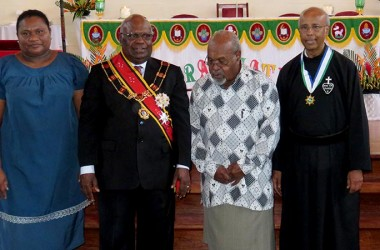 Fr. Joachim received the Civilian Honour in Papua New Guinea