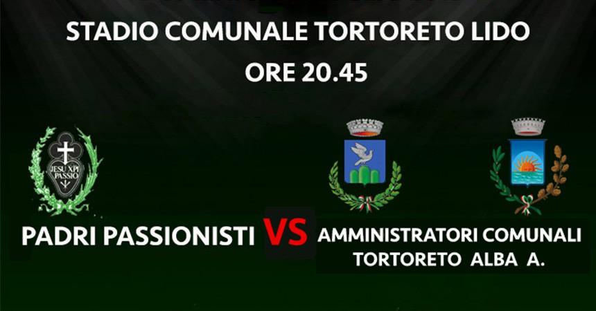 Tortoreto (TE), Los Padres Pasionistas desafían a los administradores a un partido de futbol para recoger fondos