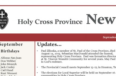 "New Edition of ""Holy Cross Province Newsletter"""