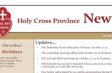 """Bollettino della Provincia di """"Holy Cross"""""""