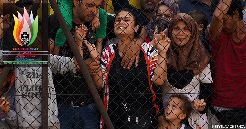 Jesús sufriendo en el Refugiado y el Migrante