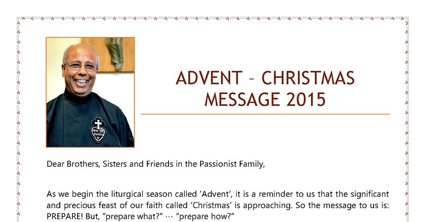 An Advent-Christmas Message of the Superior General