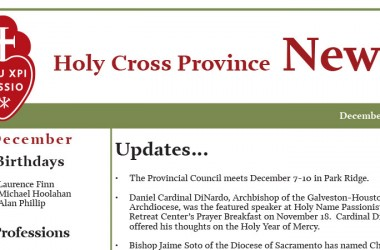 """New Edition of the Newsletter: """"Holy Cross"""""""