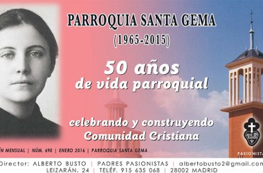 "New Edition of the online magazine: ""Parroquia Santa Gema"""