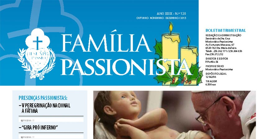 """Newsletter of Passionists in Portugal, """"Família Passionista"""""""