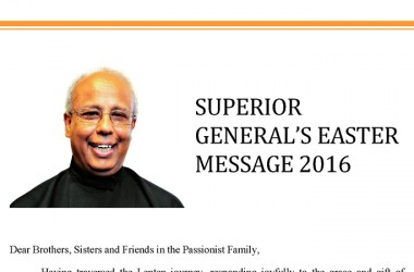 Superior General's Easter Message 2016