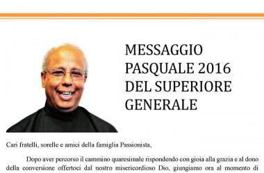 Mensaje Pascual 2016 del Superior General