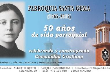 "New Edition of the online magazine: ""Parroquia Santa Gema"""