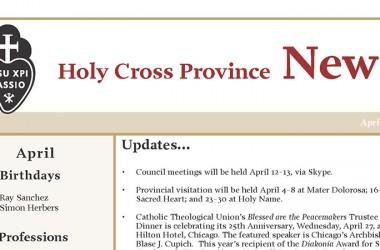 """Nueva Edición del Boletín: """"Holy Cross"""""""