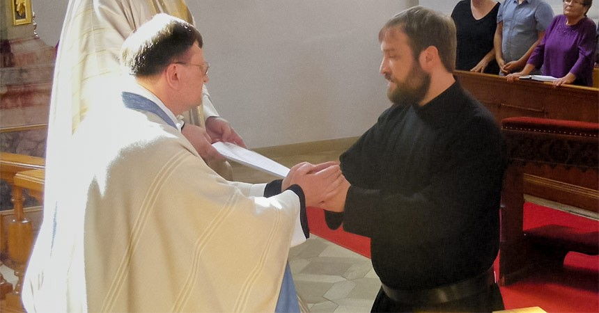 First profession of Conf. Vinzenz Schlosser
