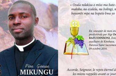 Priestly Ordination of Fr. GIRESSE MIKUNGU