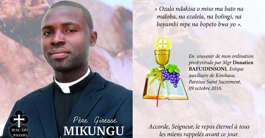 Priestly Ordination of Fr. GIRESSE MIKUNGU