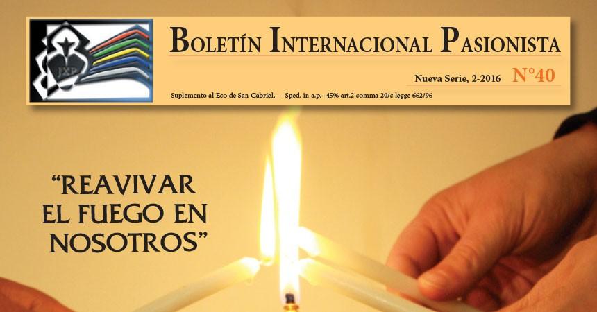 Nuevo número del Boletín Internacional Pasionista (BIP)