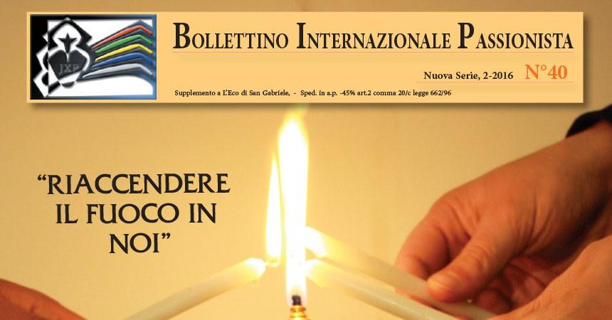 Nuovo numero del Bolletino Internazionale Passionista (BIP)