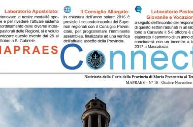 """Bollettino """"MAPRAES Connect""""<br>Ottobre-Novembre 2016"""