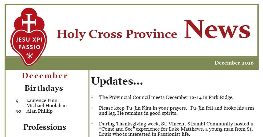 Holy Cross Province News