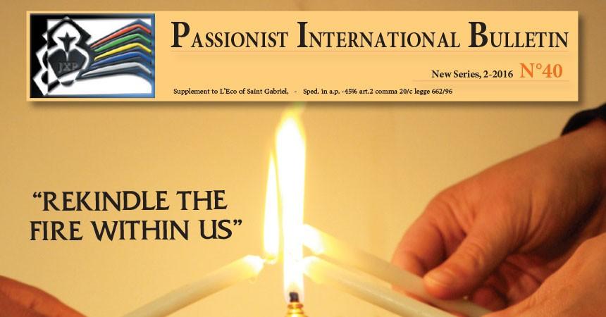 New Edition of the Passionist International Bulletin (PIB)
