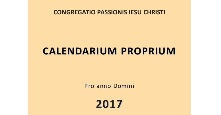 Calendarium Proprium 2017