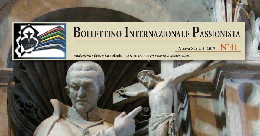 <b>Bolletino Internazionale Passionista </b><br>N. 41 – 2017