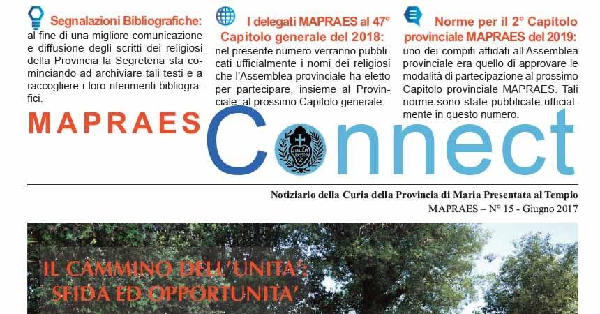 """Bollettino """"MAPRAES Connect""""<br>Giugno 2017"""
