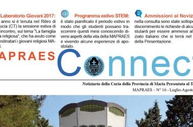 """Bollettino """"MAPRAES Connect""""<br>Luglio – Agosto 2017"""