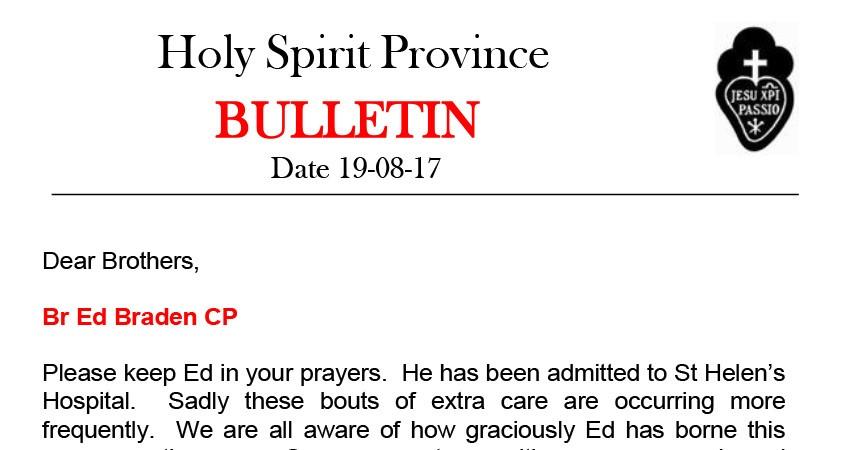 SPIR Province Bulletin