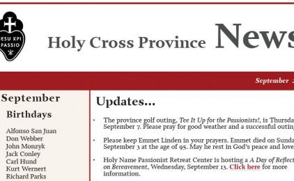 Newsletter CRUC Province (September 2017)