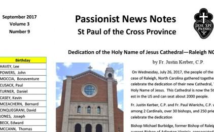 Newsletter PAUL Province (September 2017)