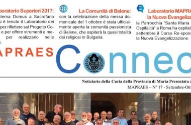 """Bollettino """"MAPRAES Connect""""<br>Settembre-Ottobre 2017"""