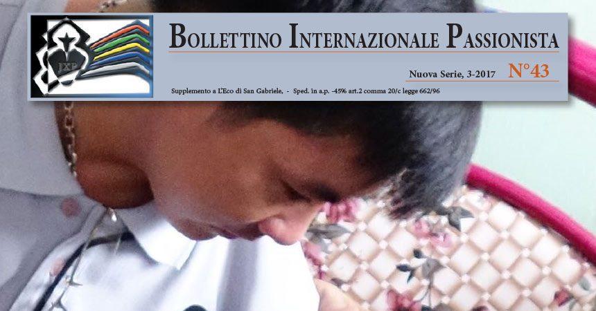 Bollettino Internazionale Passionista<br>N° 43 (3-2017)