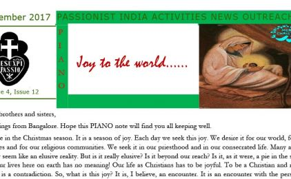 """THOM Province Bulletin: """"PIANO""""<br>December 2017"""
