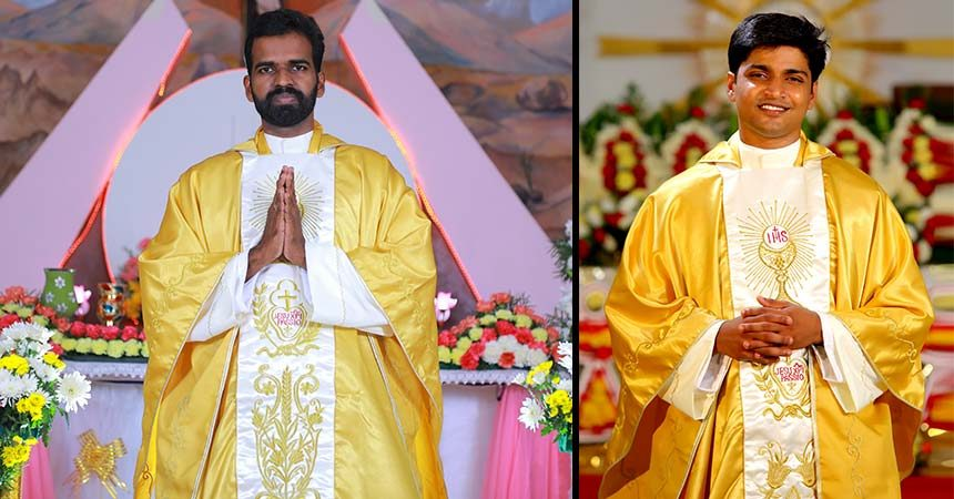 PRIESTLY ORDINATION<br>Fr.  Jithin John Olattupurath and Fr. Antony Jackson Kattunkalthayil (THOM)