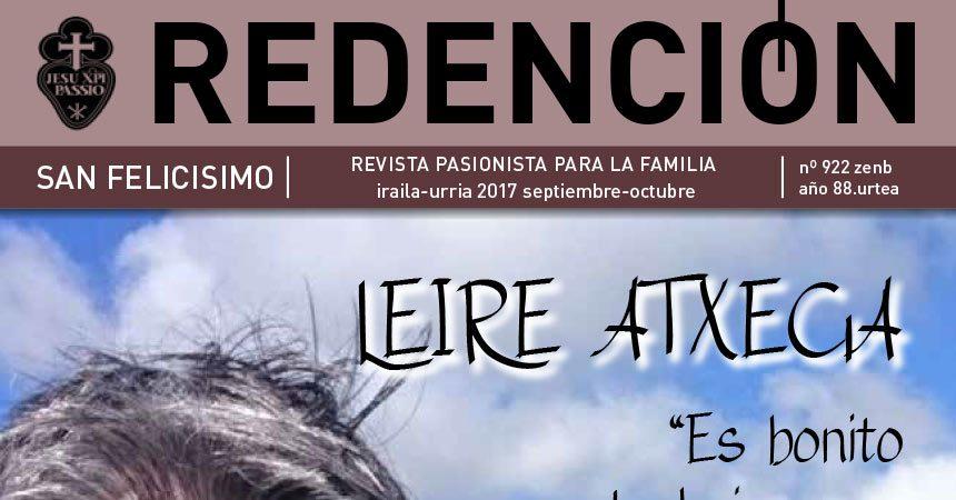 """Revista """"REDENCIÓN""""<br>Septiembre – Octubre 2017"""