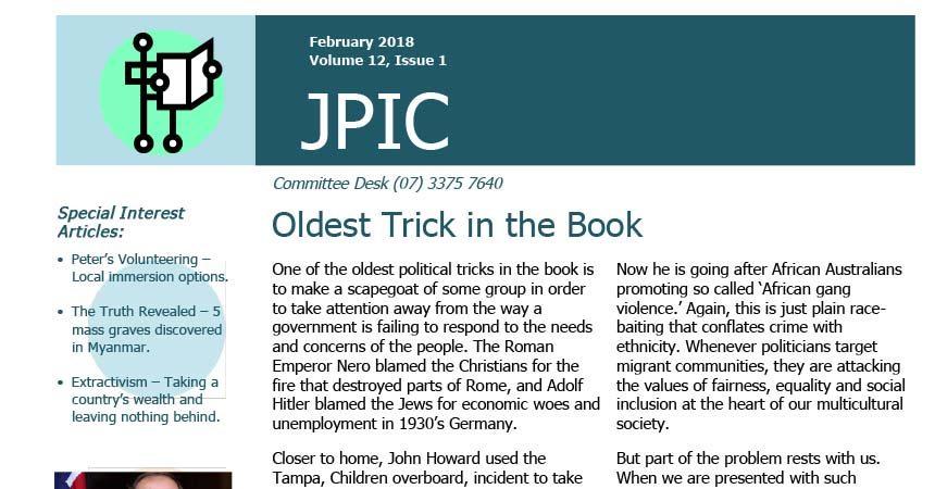 Passionist JPIC Australia<br>February 2018